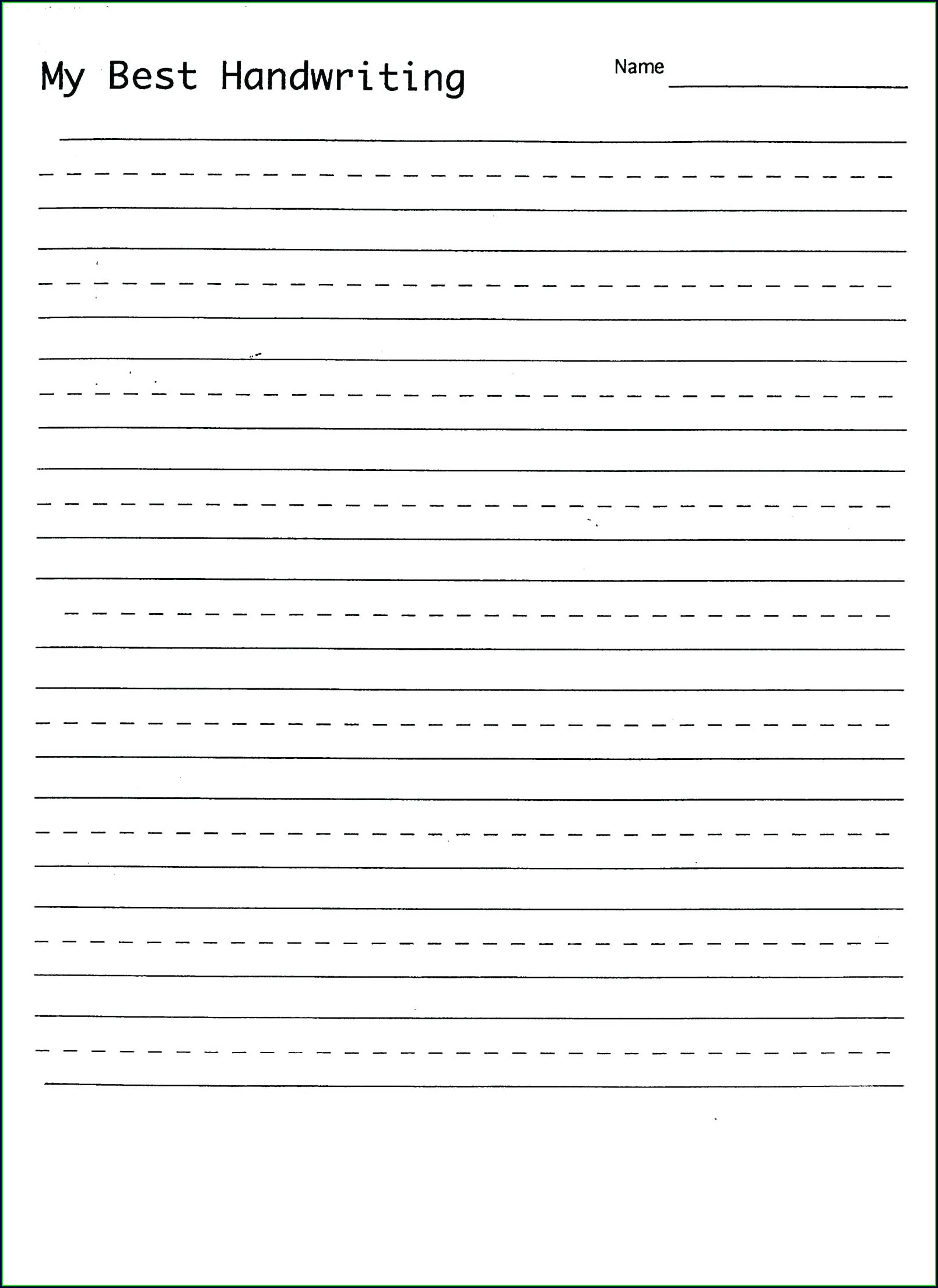 Handwriting Cursive Writing Practice Sheets For Adults