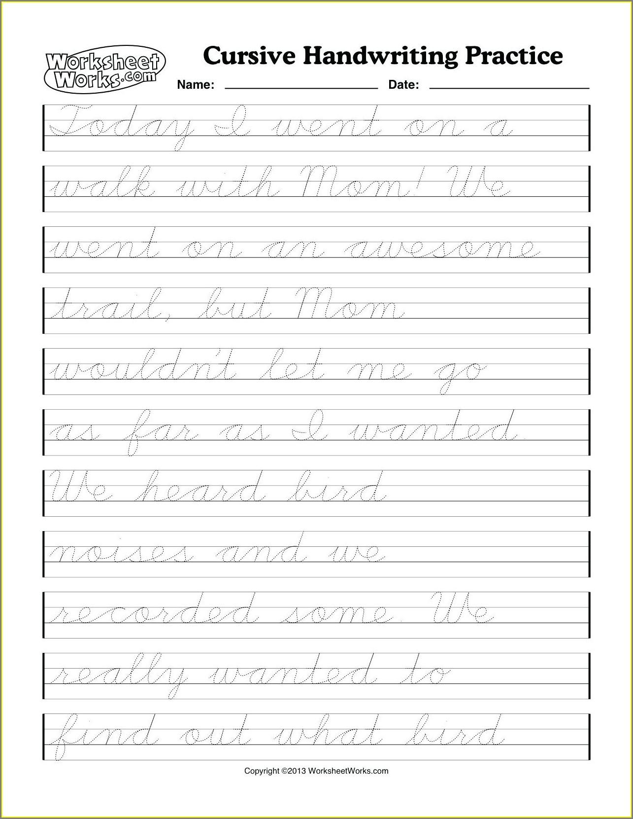 Handwriting Worksheet Generator Software