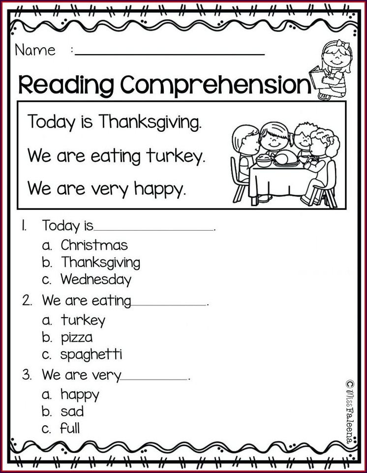Happy Thanksgiving Math Worksheet