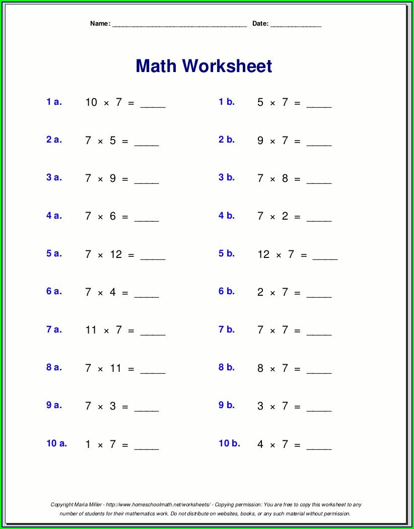 High School Math Worksheets 10th Grade