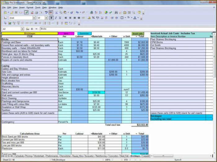Home Addition Budget Worksheet