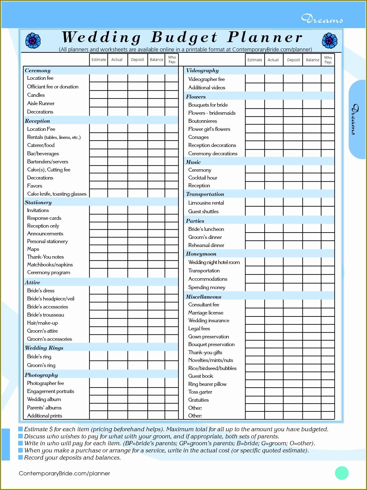 Home Budget Planner Spreadsheet