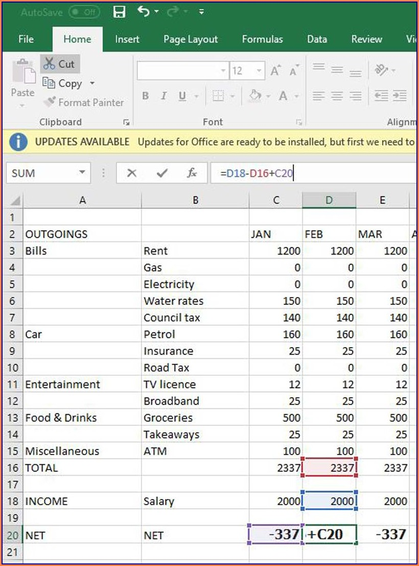 How To Budget Worksheet