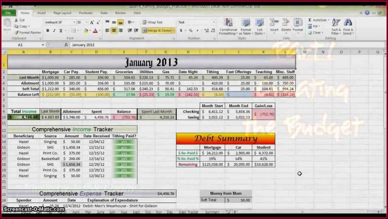 How To Create Budget Worksheet In Excel