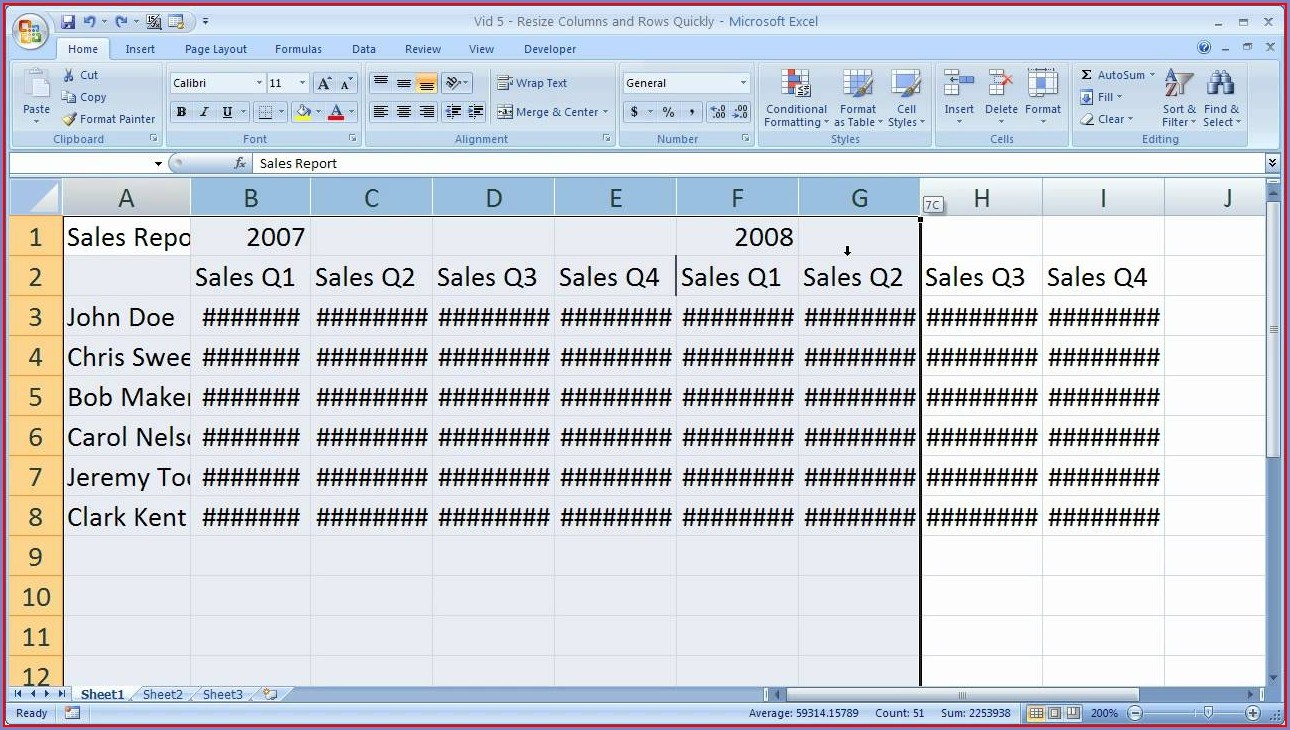How To Resize An Excel Cell