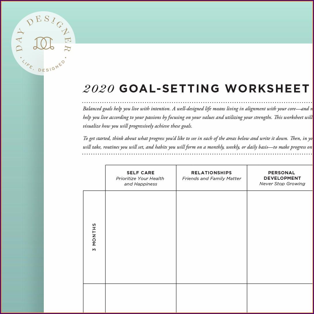 Individual Goal Setting Worksheet