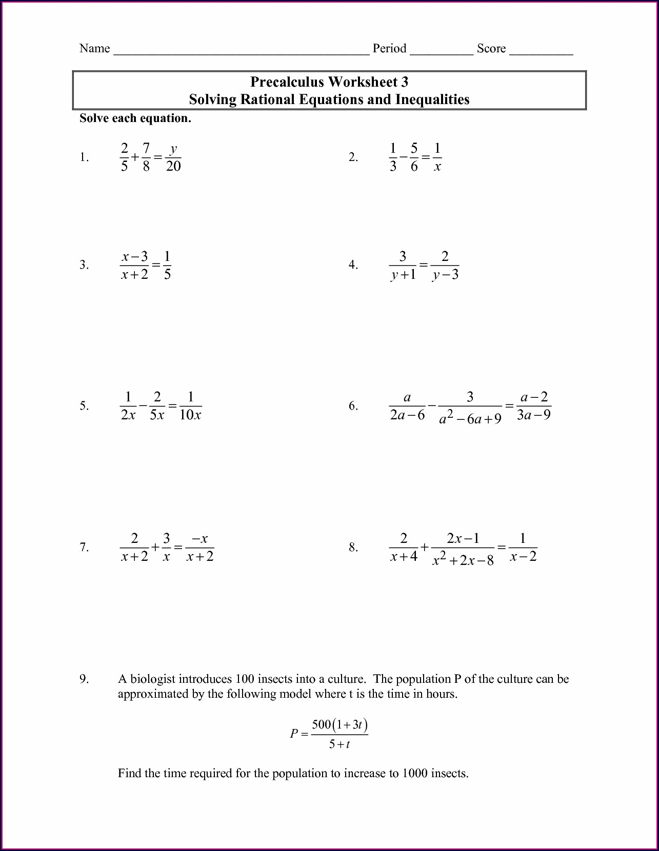Inequalities With Rational Numbers Worksheet