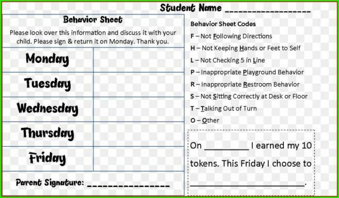 Information Worksheet School District Code