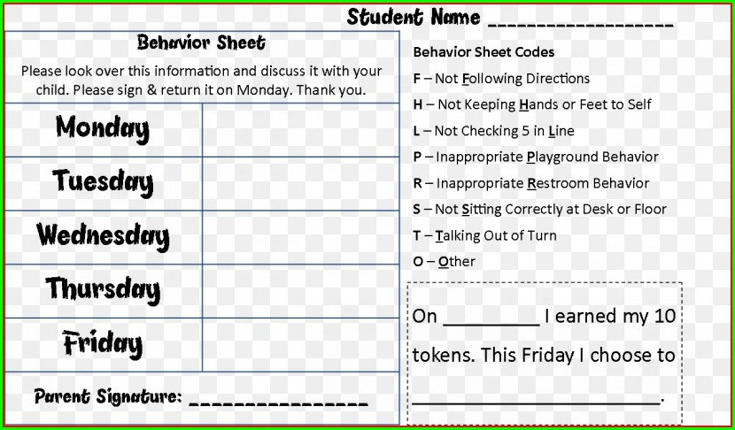Information Worksheet School District Code