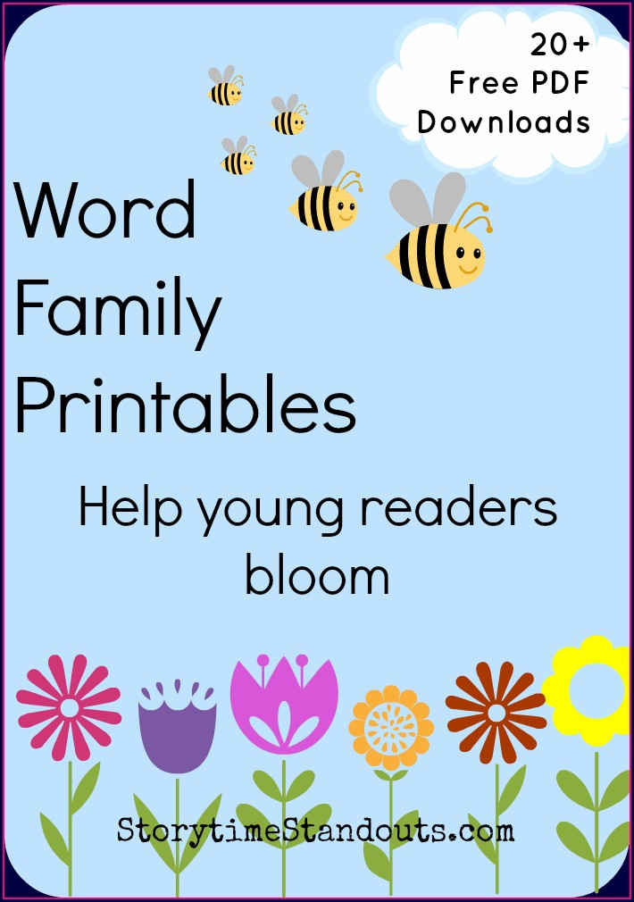Ing Word Family Printable Book