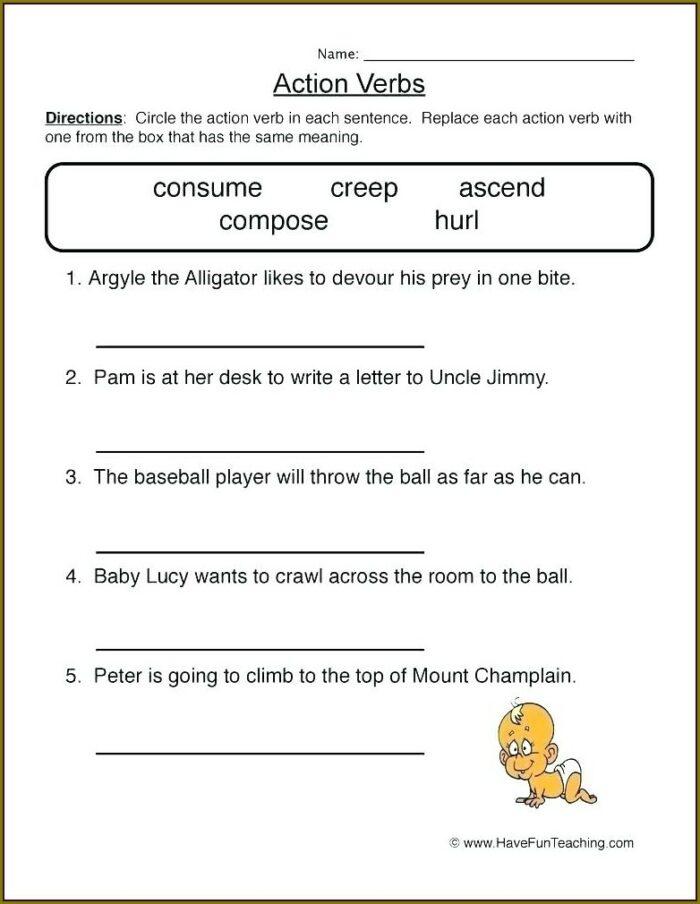 Irregular Verbs Worksheet Grade 4