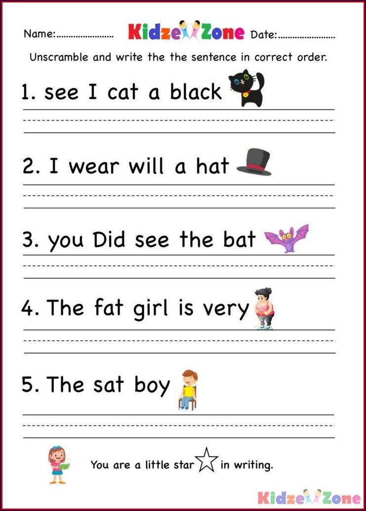 Kindergarten At Word Family Worksheets