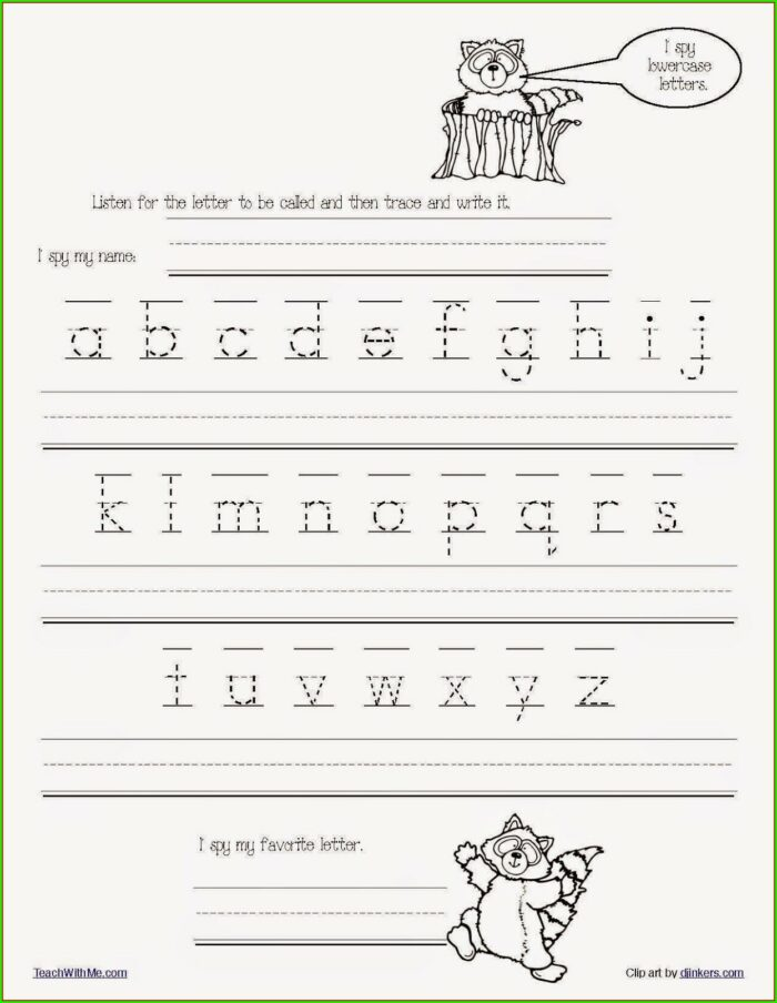 Kindergarten Free Word Family Worksheets