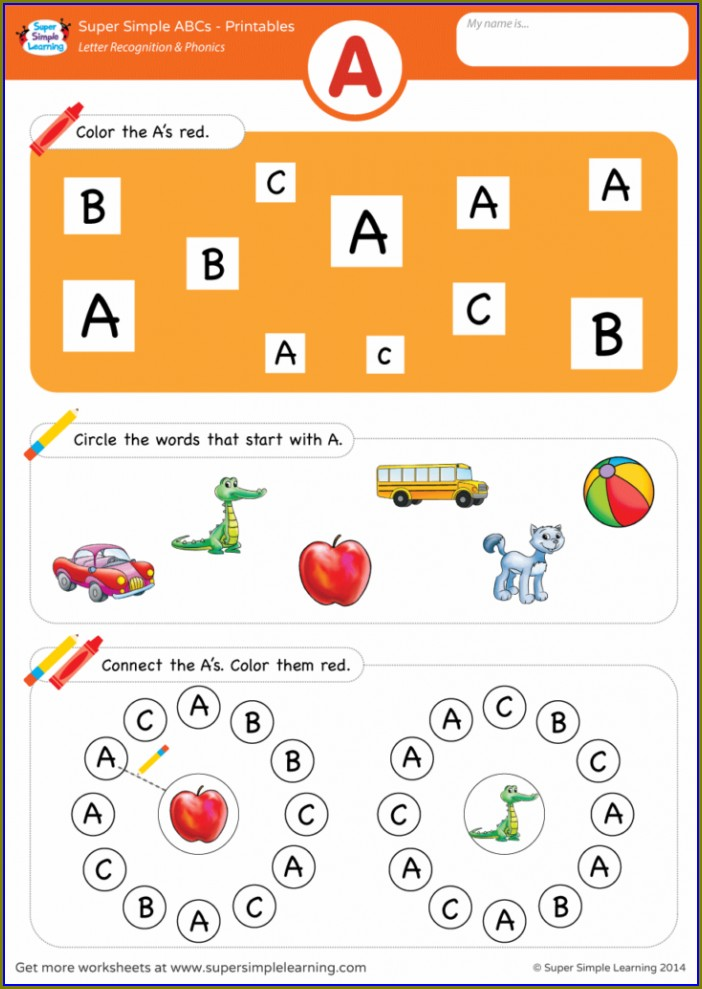 Kindergarten Letter Sound Recognition Worksheets