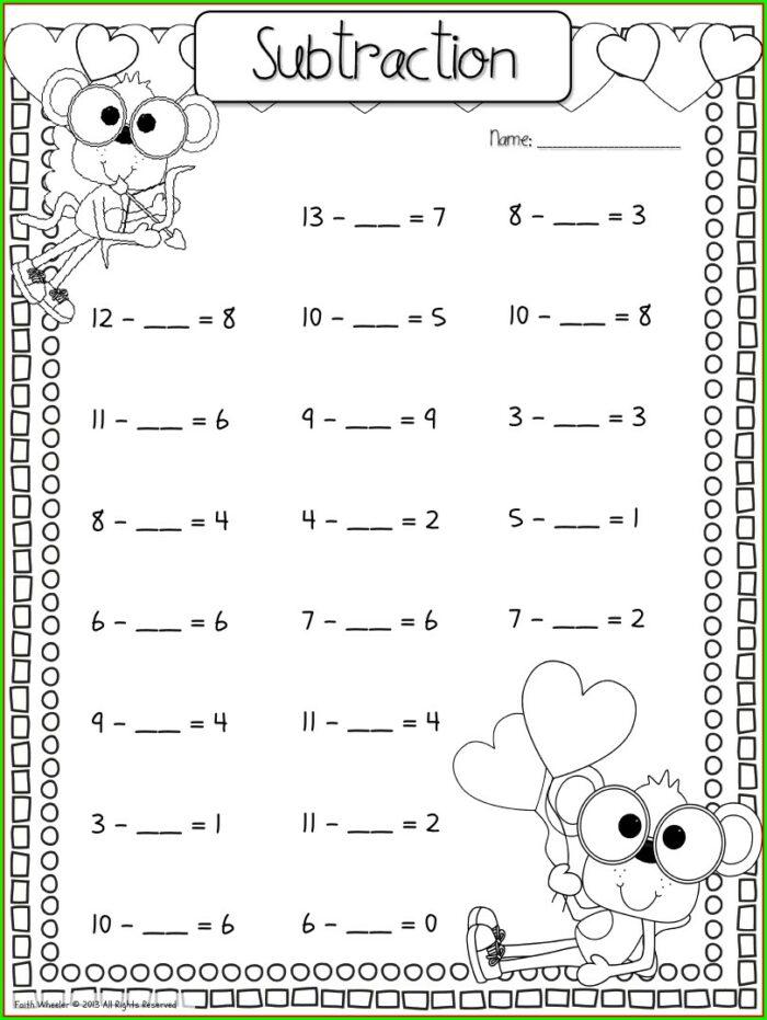 Kindergarten Math Worksheets Fill In The Missing Number