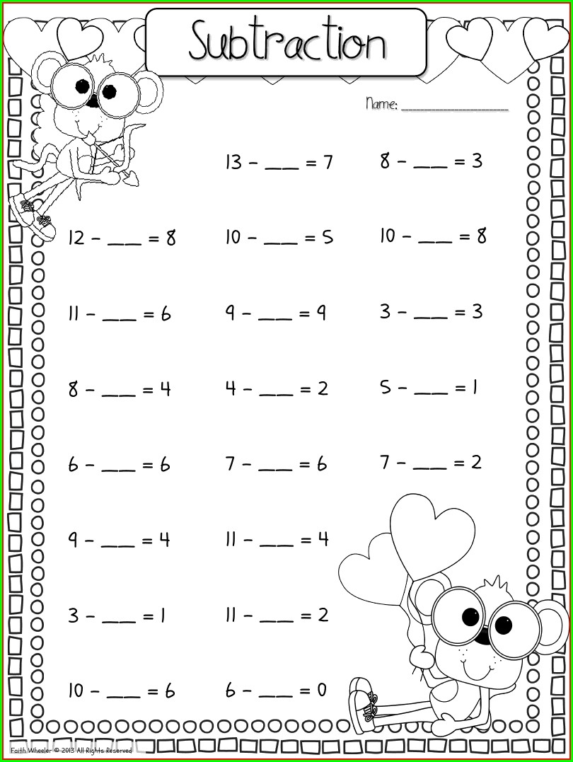 Kindergarten Math Worksheets Fill In The Missing Number