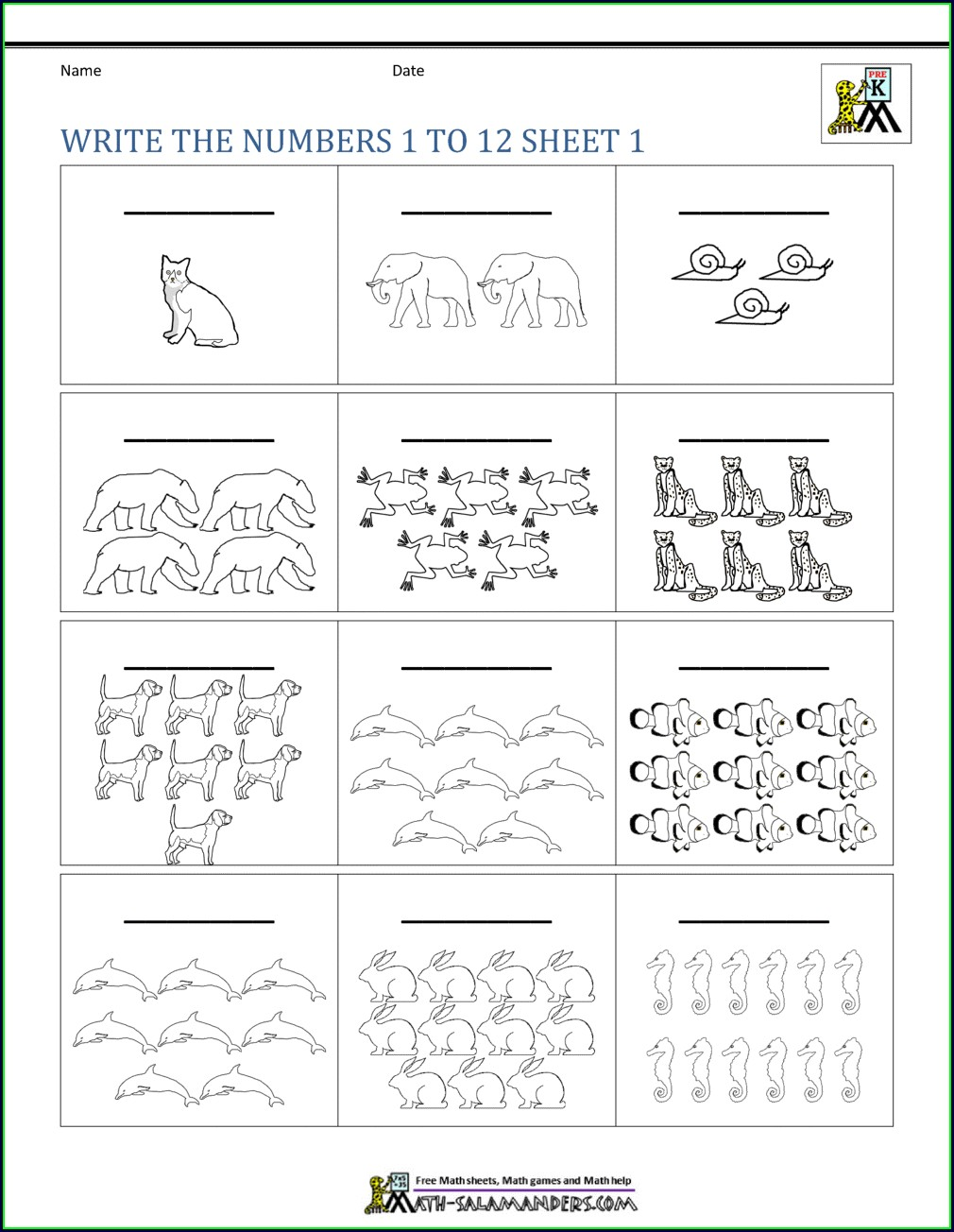 Kindergarten Math Worksheets Writing Number Words Worksheets For Kindergarten