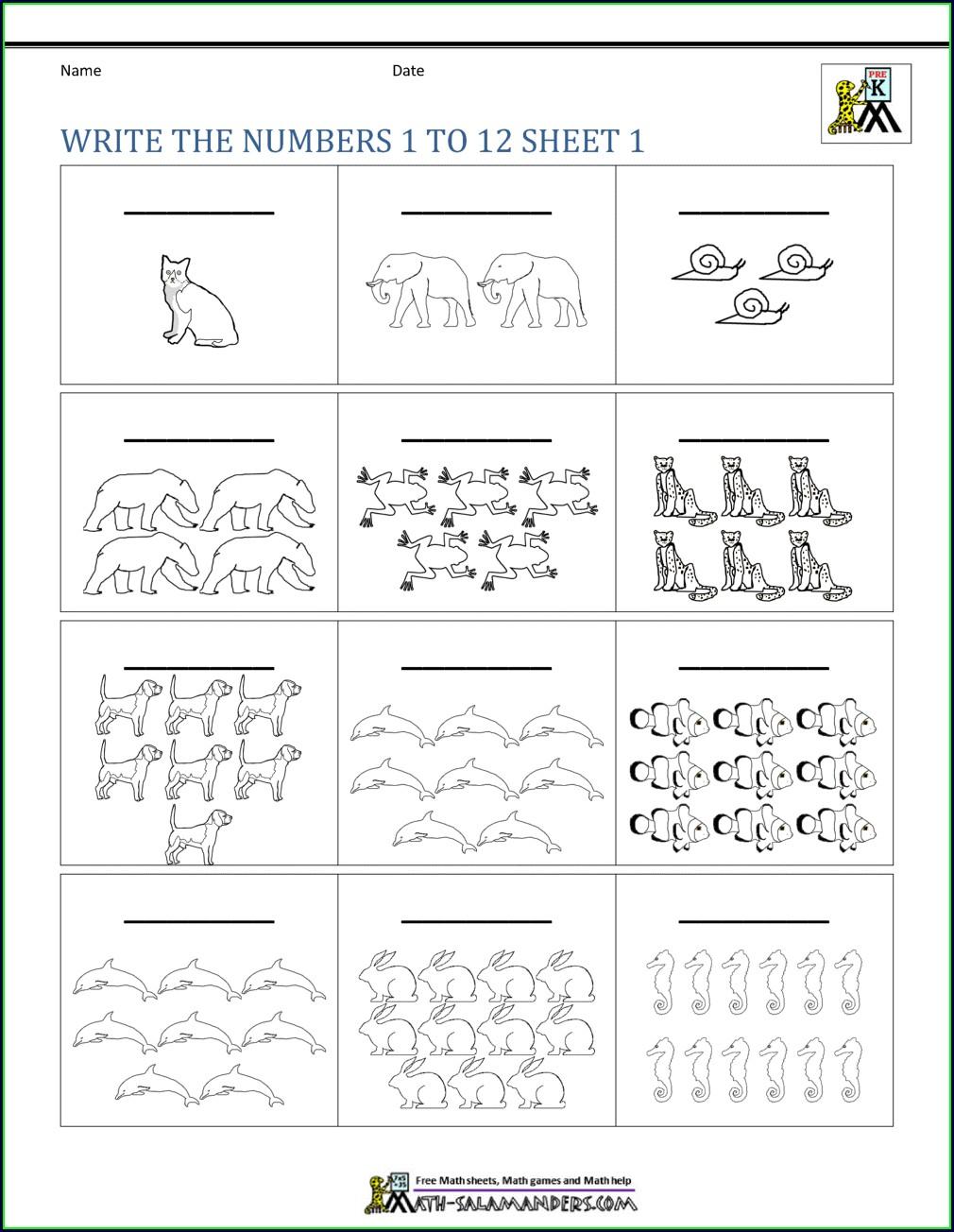 Kindergarten Math Worksheets Writing Number Words Worksheets For Kindergarten