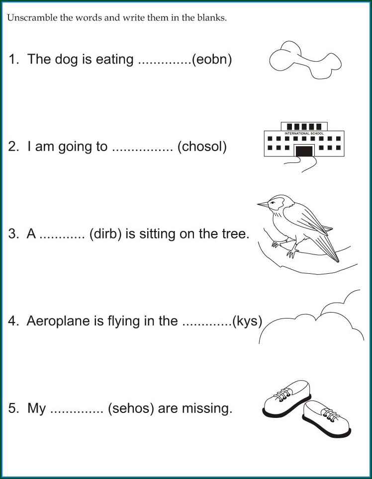 Kindergarten Phonics Three Letter Words Worksheets