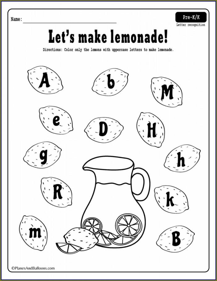 Kindergarten Worksheets Letter Recognition