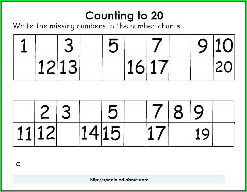 Kindergarten Worksheets Writing Numbers