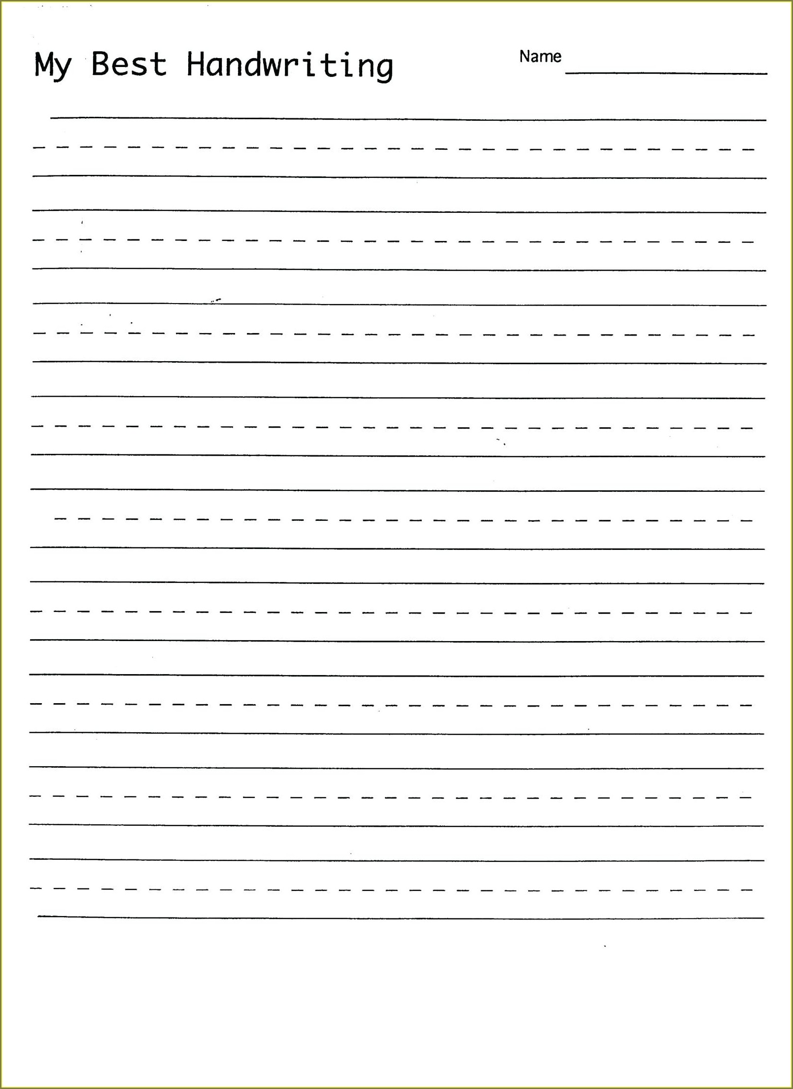 Kindergarten Writing Worksheet Maker