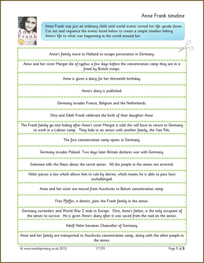 Ks2 Ww2 Timeline Worksheet