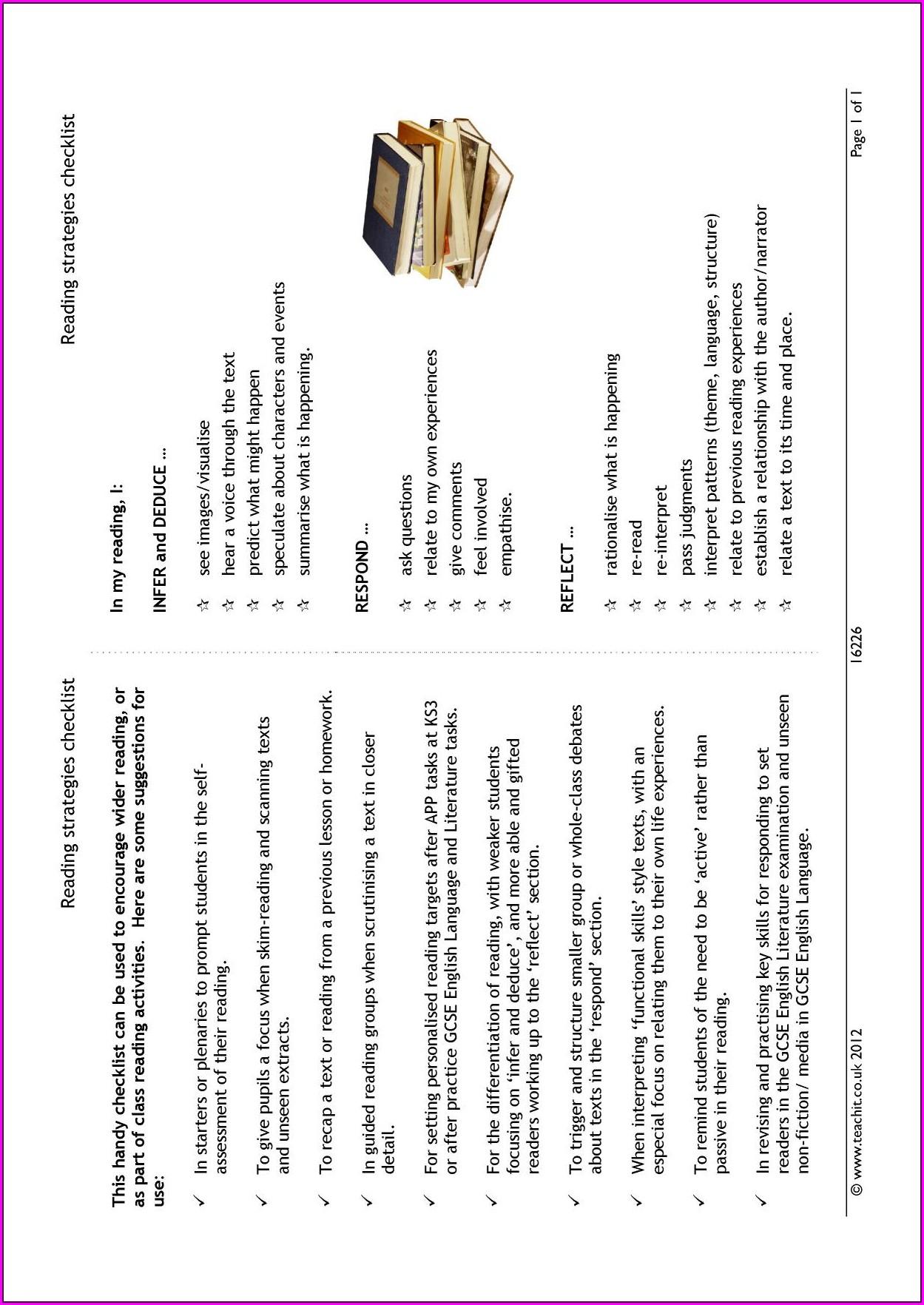 Ks3 Reading Comprehension Worksheets Free