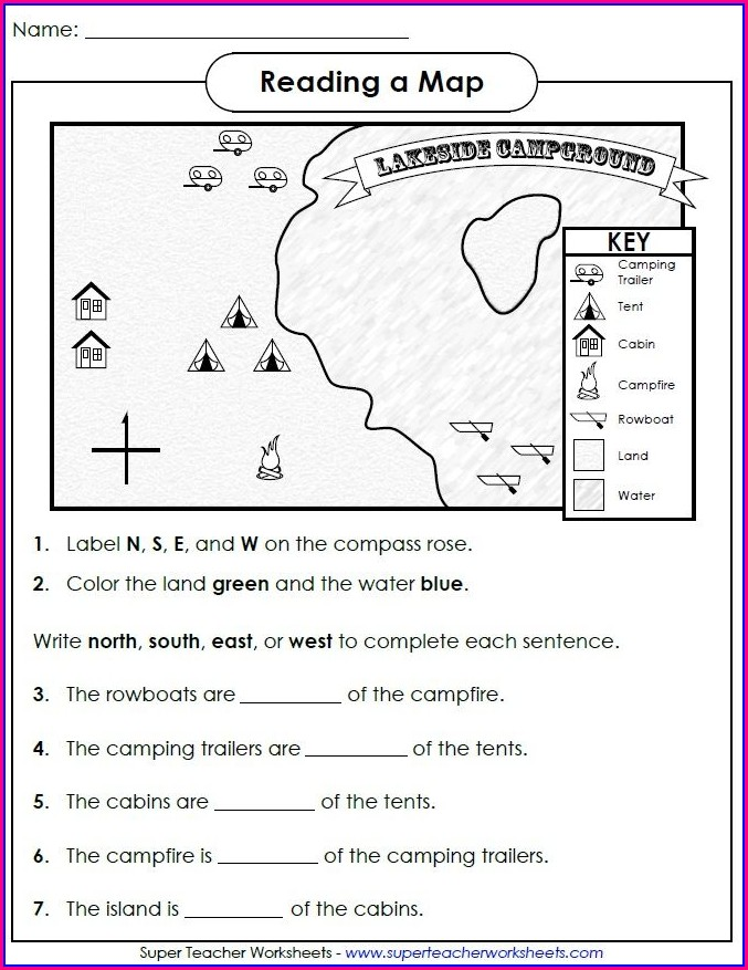 Label Cardinal Directions Worksheet