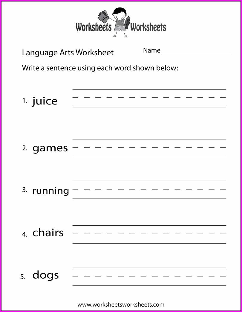 Language Art Grade 4 Language Worksheets