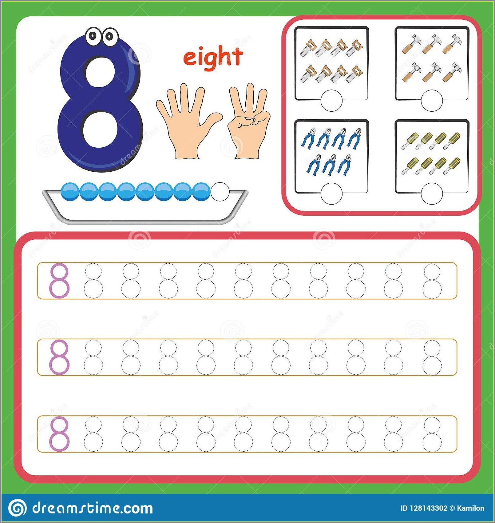 Learning Writing Numbers Worksheet