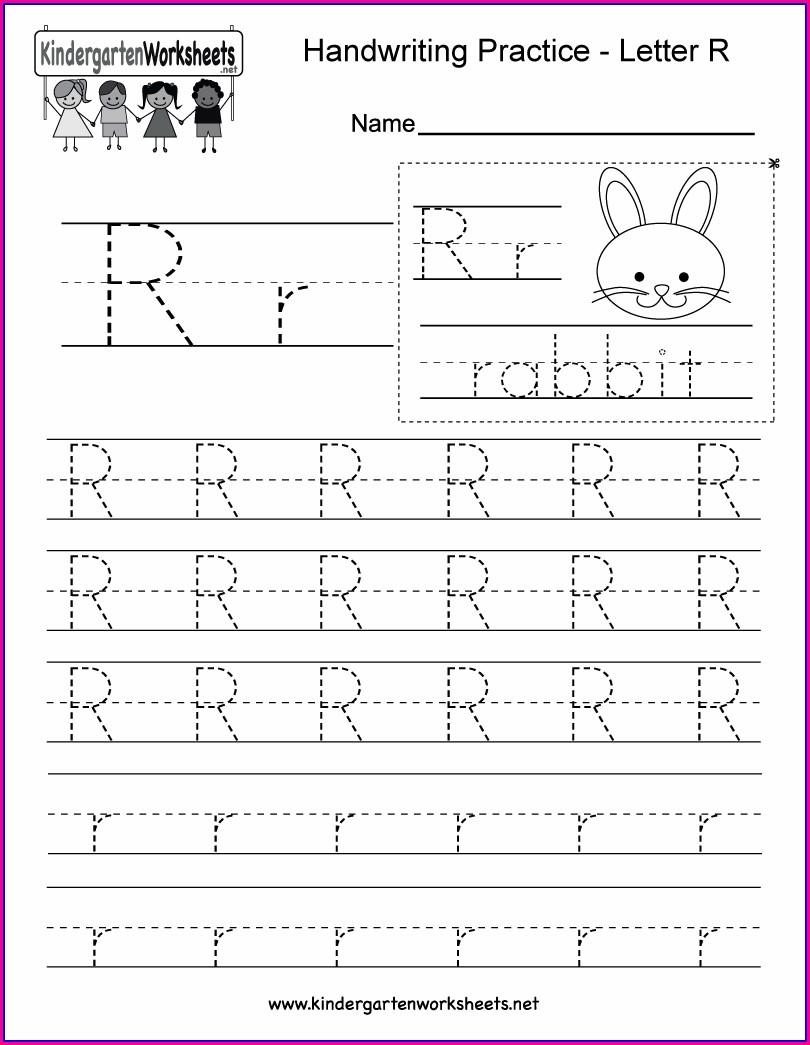 Letter Writing Worksheet For Kindergarten