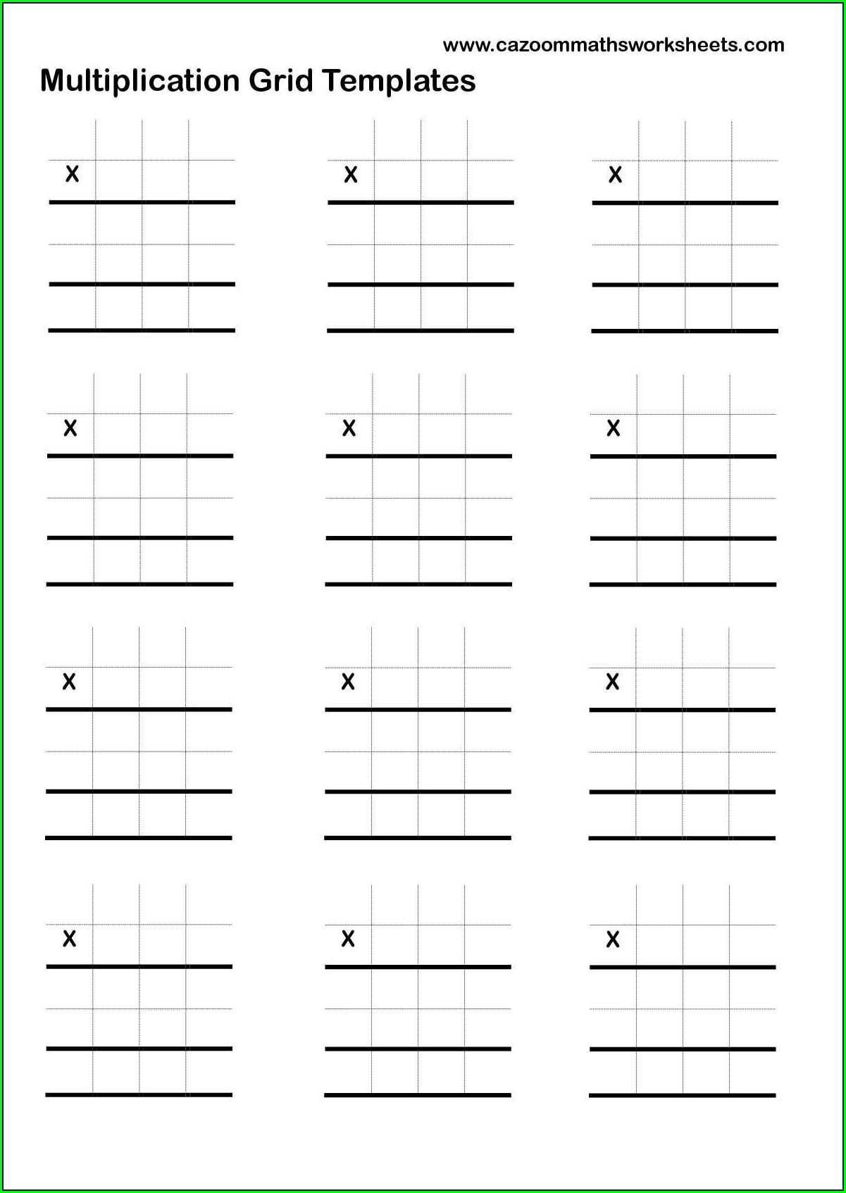 Long Multiplication Worksheets Year 9