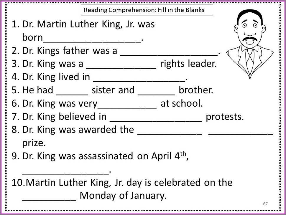 Martin Luther King Jr Lesson 4th Grade