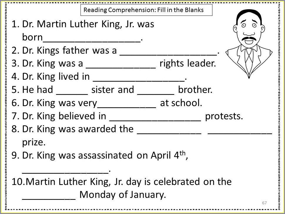 Martin Luther King Jr Lesson Plans 3rd Grade