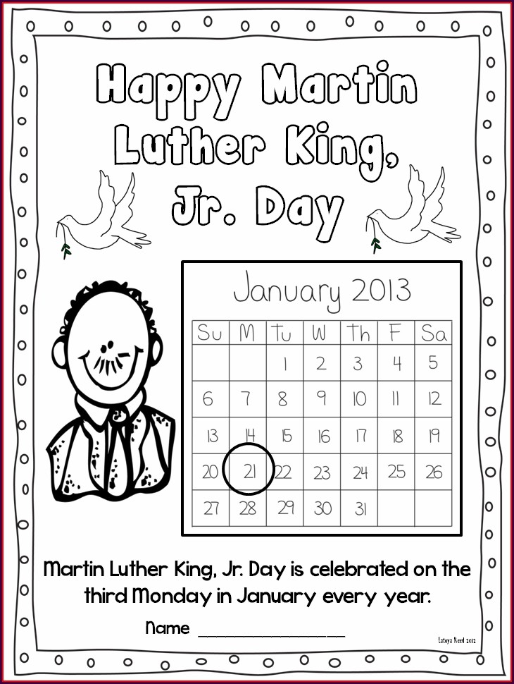 Martin Luther King Jr Library Lesson Plans
