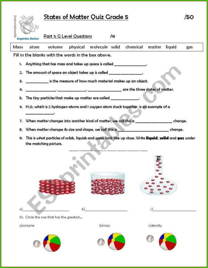 Mass Volume Density Worksheet Middle School Pdf