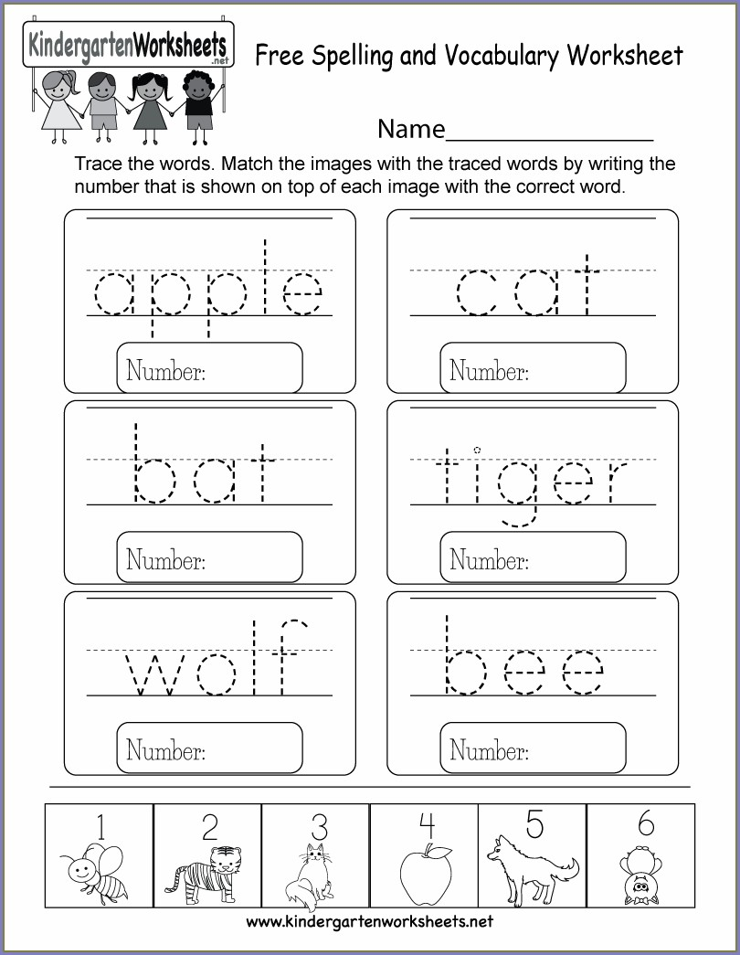 Math Vocabulary Worksheet Template