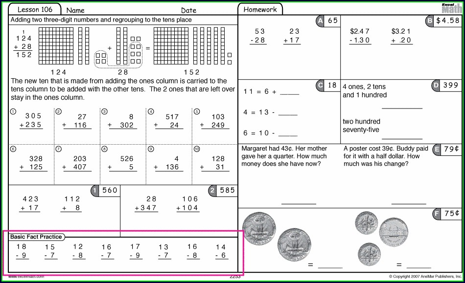 Math Warm Up Worksheets Middle School