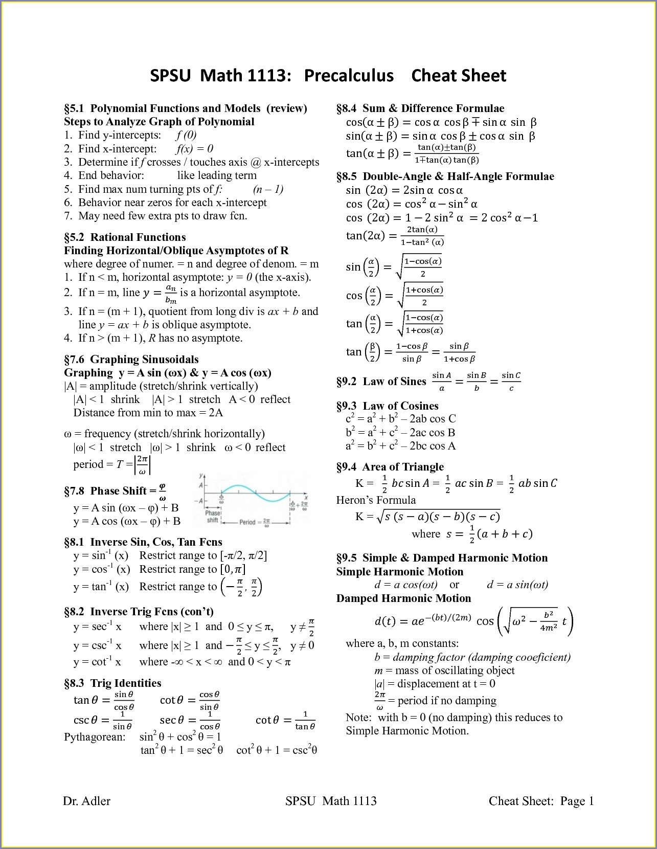 Math Worksheet Algebra 1