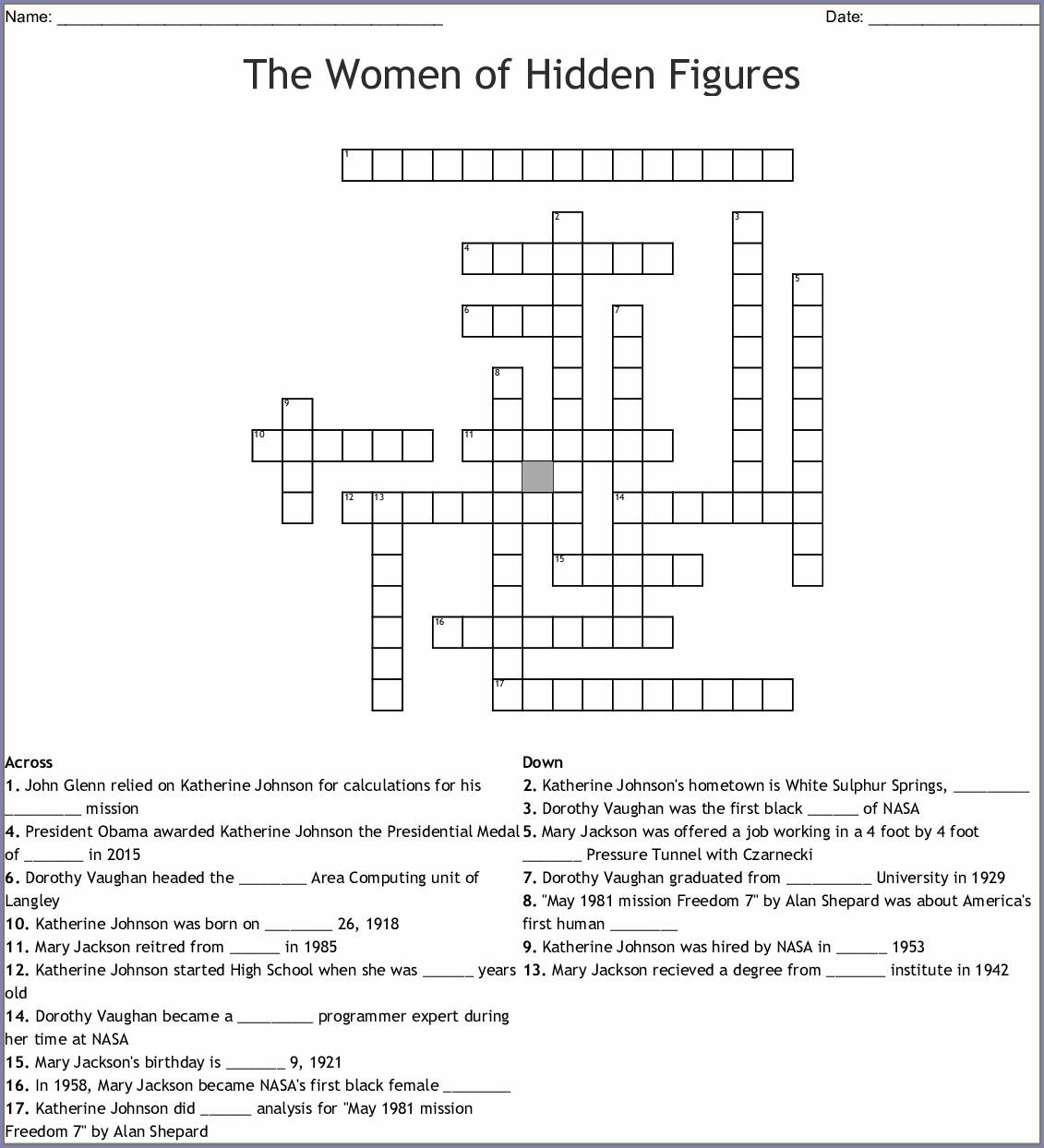 Math Worksheet Answer Key Hidden Figures Worksheet Answers