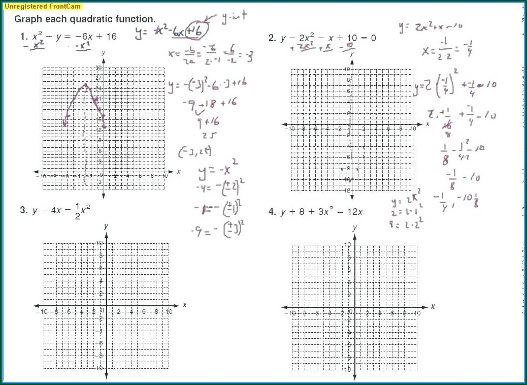 Math Worksheet Answers Algebra 1