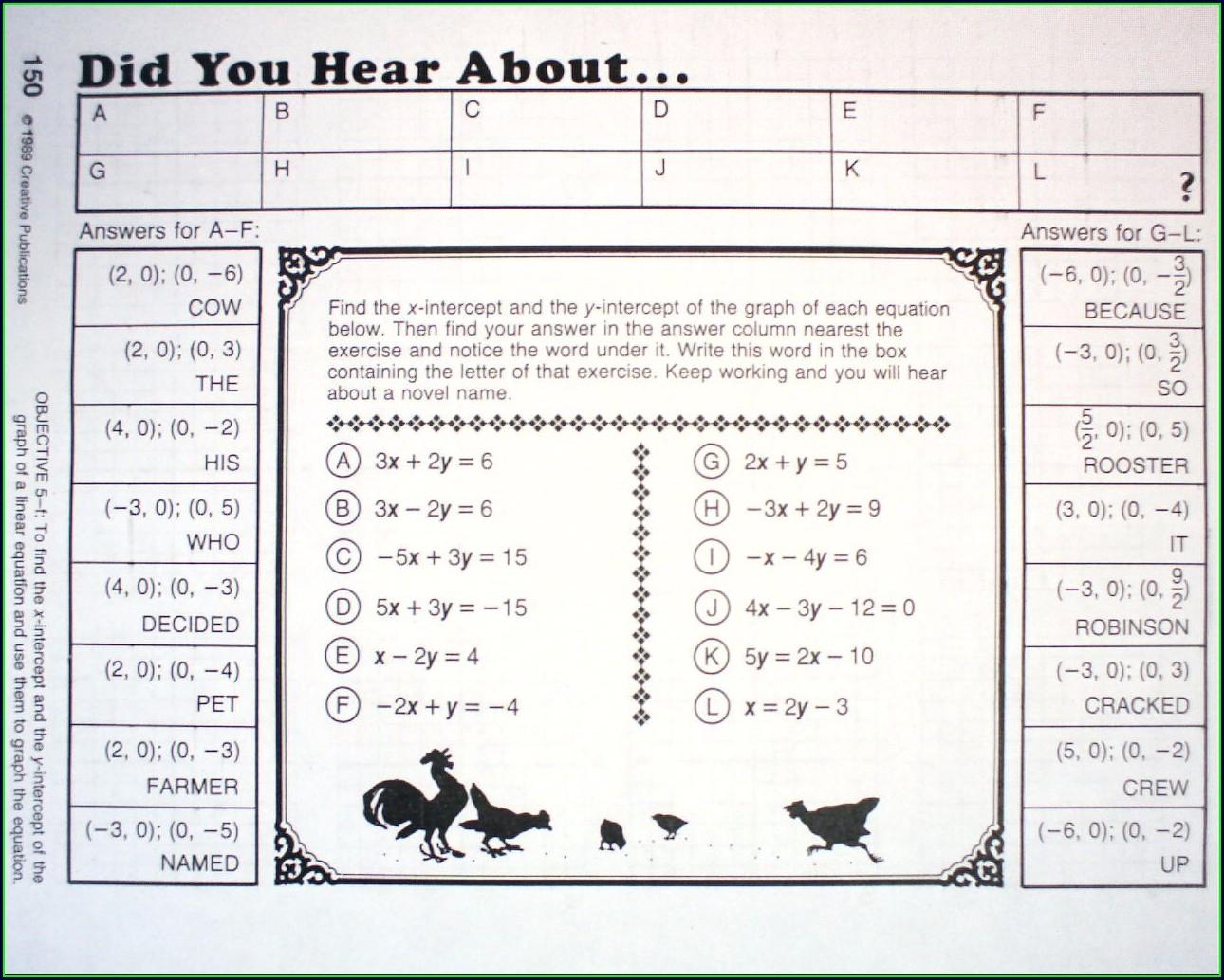 Math Worksheet Books Never Written Answers