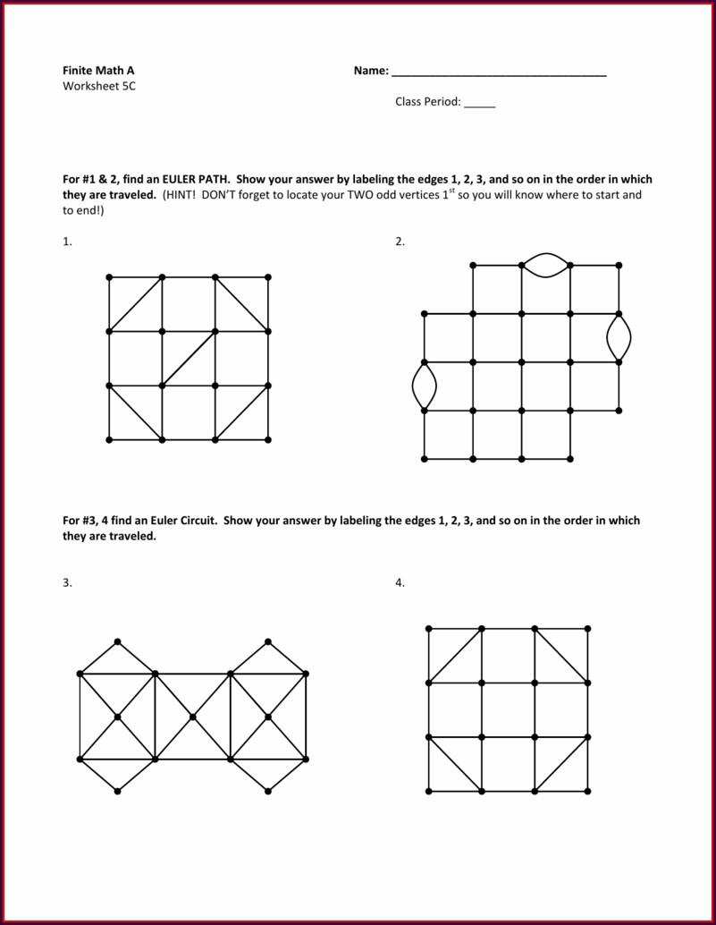 Math Worksheet Class 1