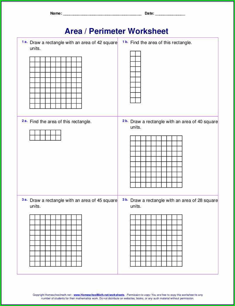 Math Worksheet Generator Perimeter