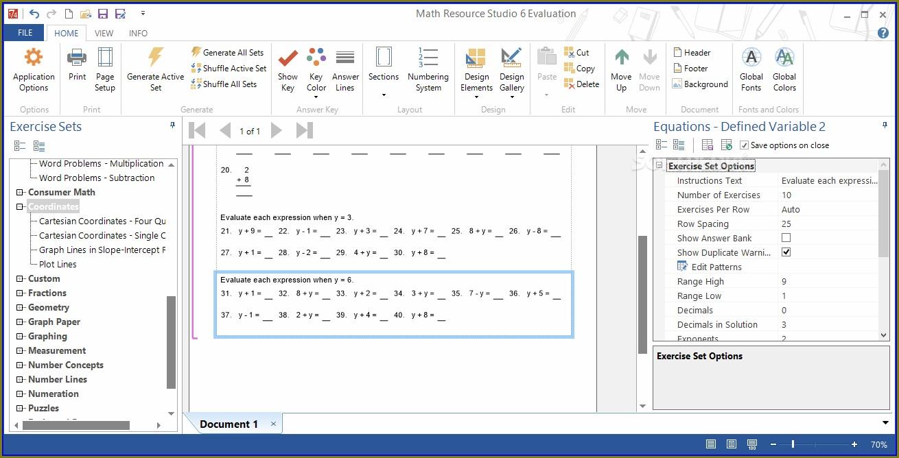 Math Worksheet Generator Software For Mac
