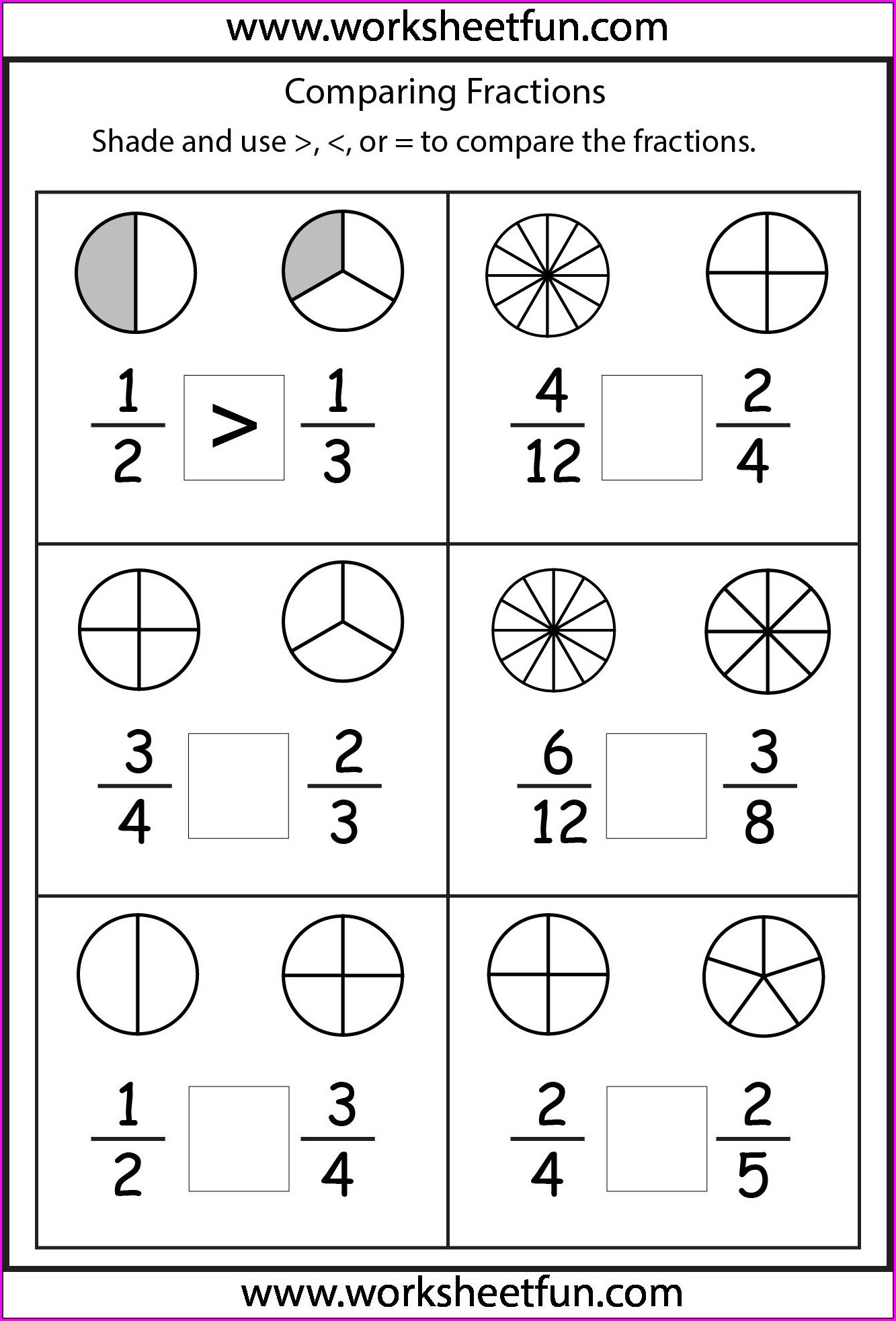 Math Worksheet Grade 4 Fractions