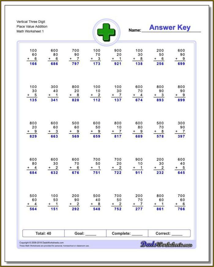 Math Worksheet Grade 4 Pdf