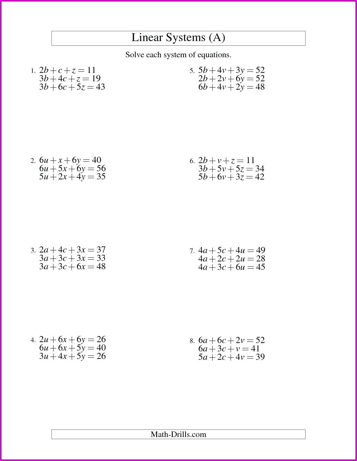 Math Worksheet Grade 7 Pdf