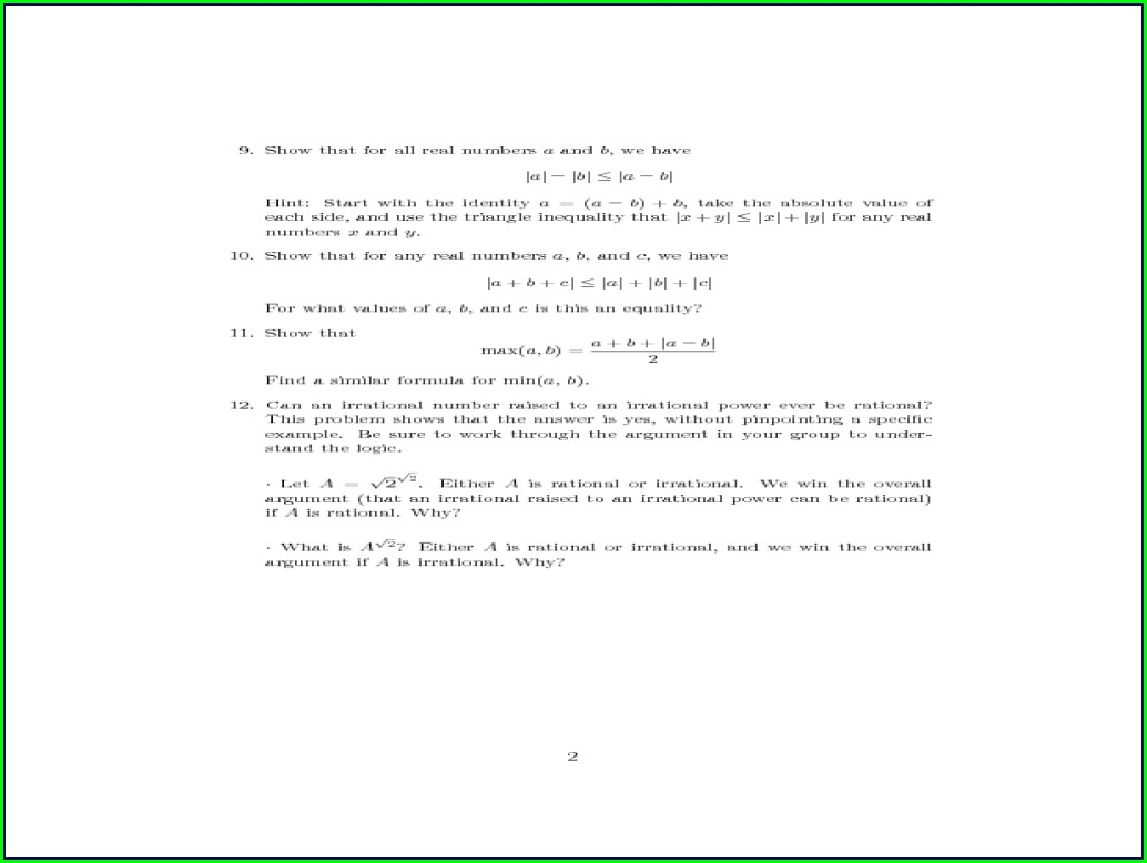 Math Worksheet Quadratic Equations